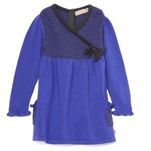 Purple & Black Stripe Surplice tunic